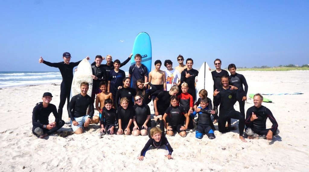 Island Surf School Westhampton Beach, NY | summer camp group 2018