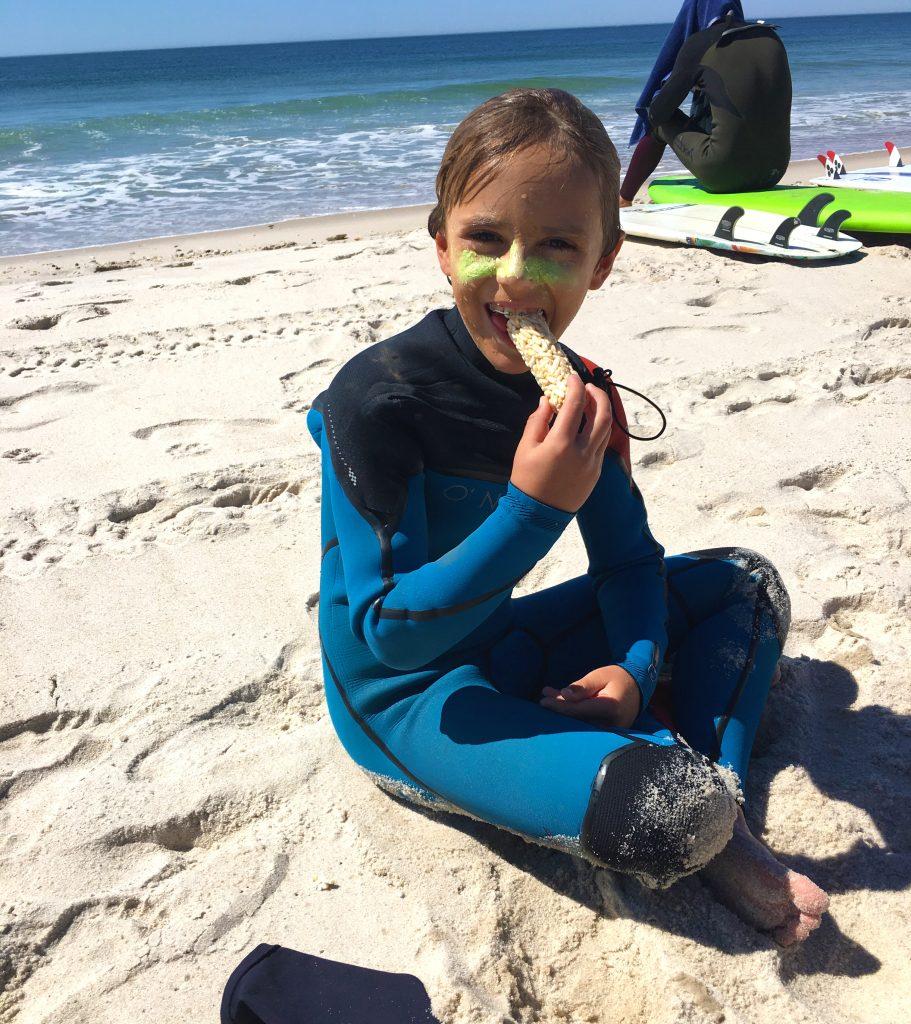 Snack break at camp